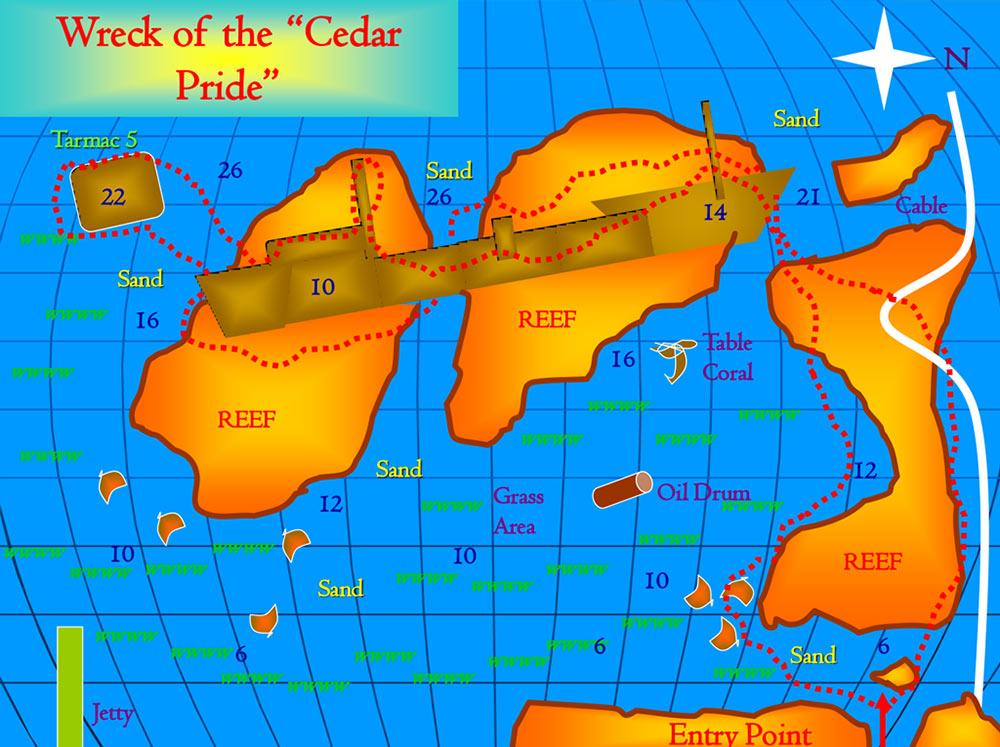 Cedar Pride Wreck Dive Site Aqaba